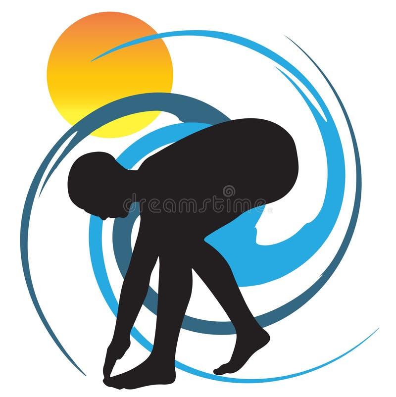 Swimming Logo Illustration stock image