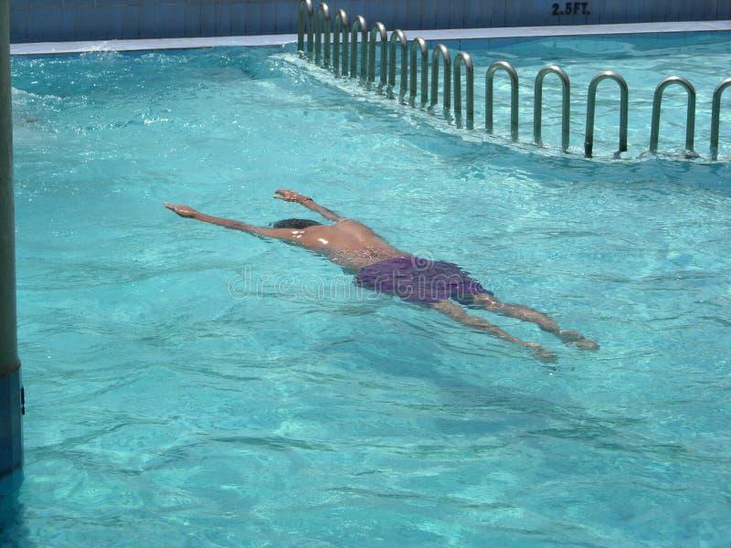 Swimming Man stock photography