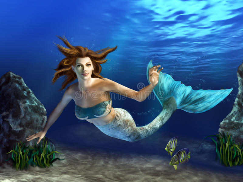 Download Swimming Mermaid stock illustration. Image of fairytale - 21093973