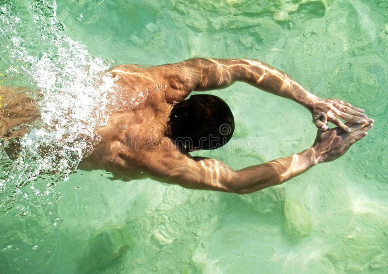 Swimming model stock photos