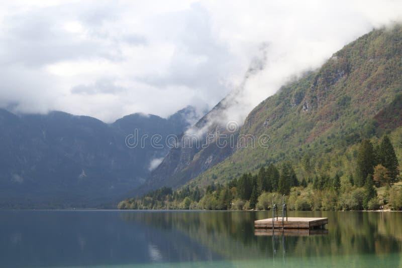 Lake Bohinjsko jezero, Bohinj, Slovenia stock images