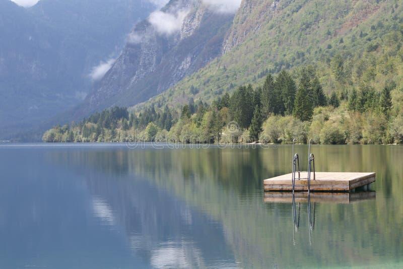 Lake Bohinjsko jezero, Bohinj, Slovenia stock photos