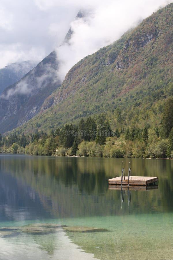 Lake Bohinjsko jezero, Bohinj, Slovenia stock photography