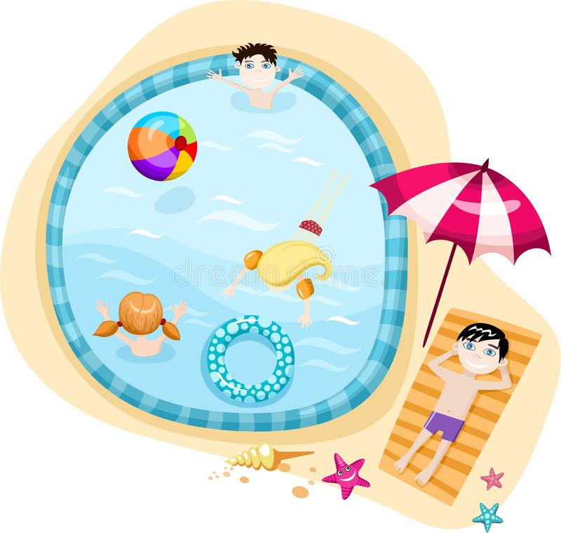 Download Swimming pool stock illustration. Image of beauty, blue - 14942102