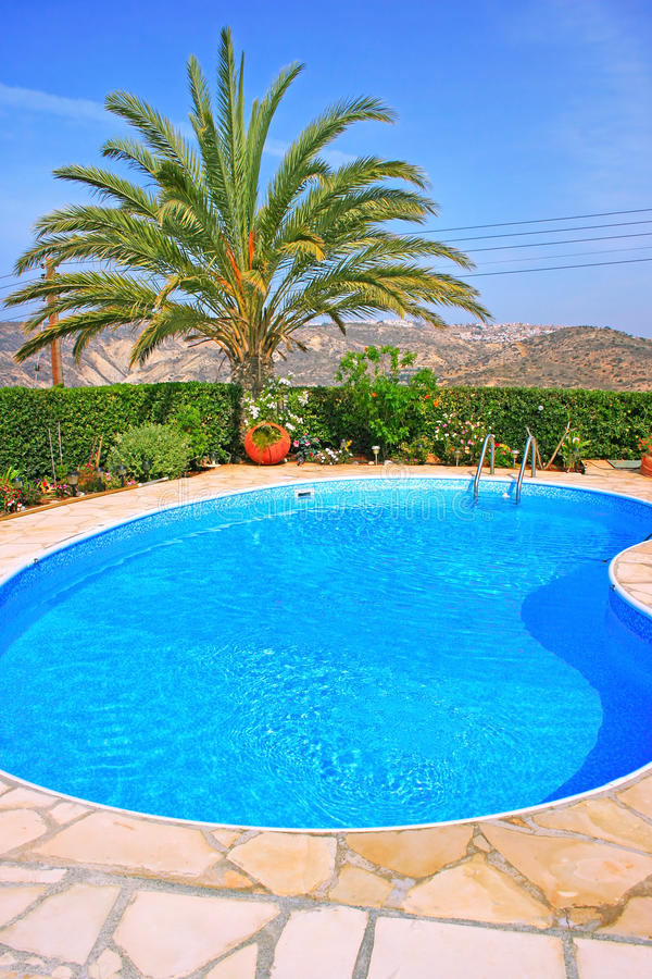 Download Swimming pool stock image. Image of service, bright, tree - 17244139