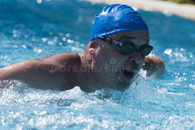 Download Swimming in the pool stock image. Image of masculine - 21203579