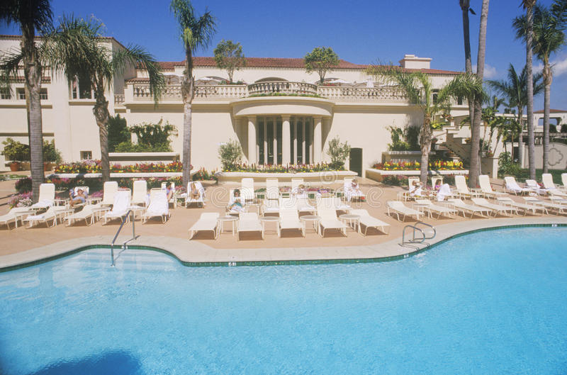 Swimming pool. Ritz Carlton, Laguna Niguel, CA royalty free stock images