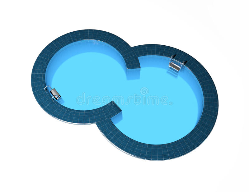 Download Swimming pool stock illustration. Image of steps, home - 27013378