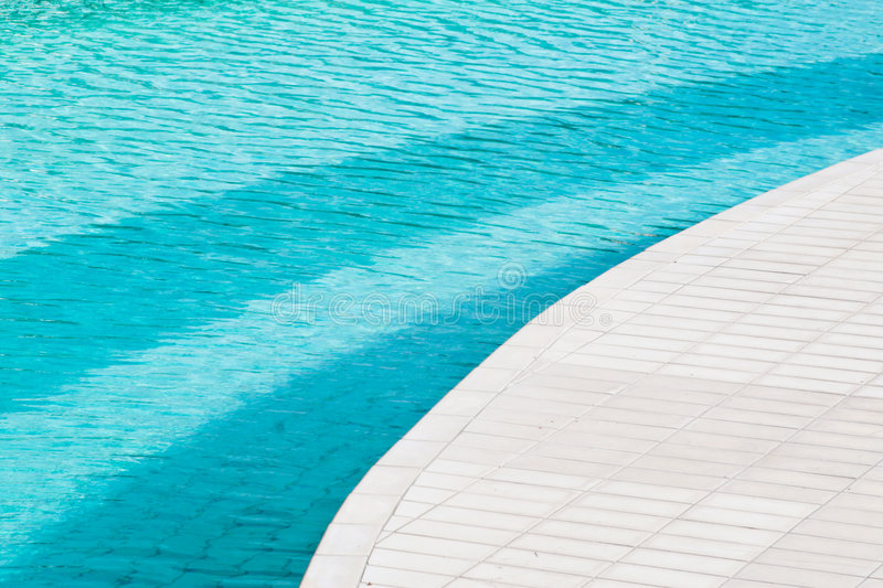 Swimming pool. A particular of a swimming pool stock image