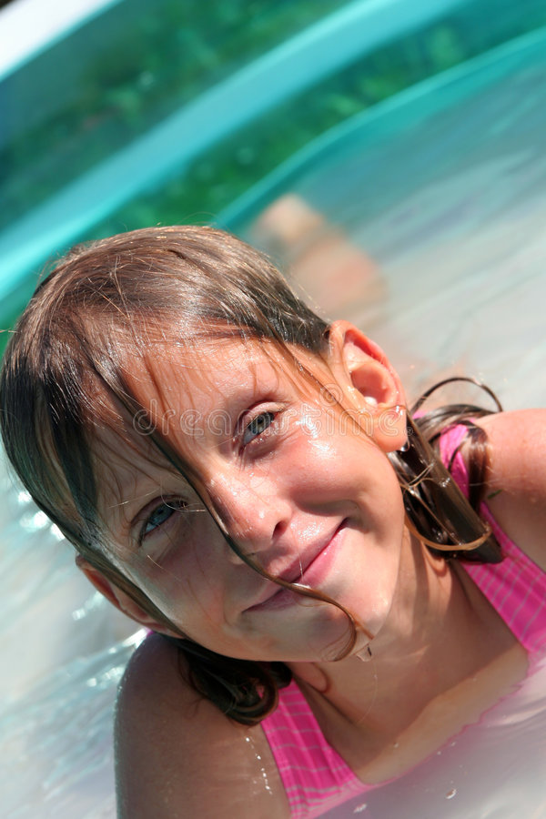 In the swimming pool royalty free stock photo