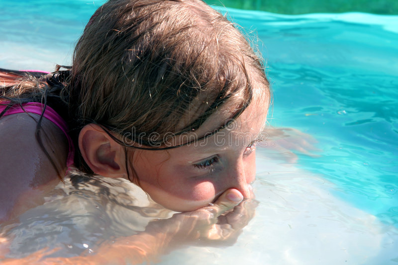 In the swimming pool royalty free stock photos