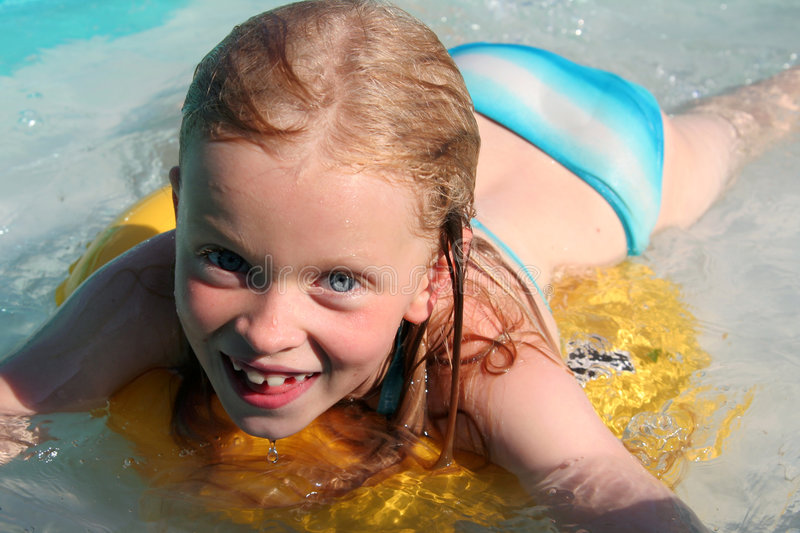 In the swimming pool royalty free stock photography