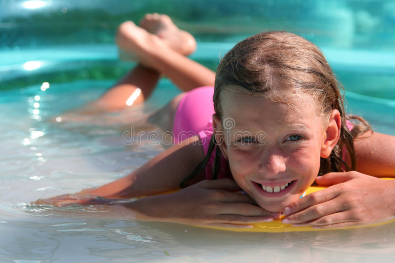 In the swimming pool royalty free stock images