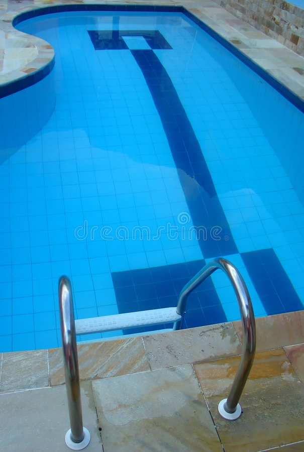 Swimming pool. At home stock photos