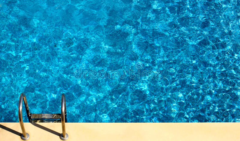 Swimming pool from above. royalty free stock image
