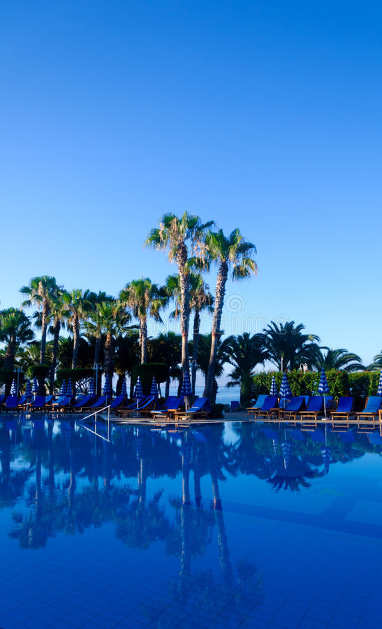 Free Swimming Pool And Palms Royalty Free Stock Images - 43979619