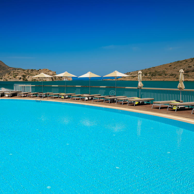 Swimming Pool Area, Royalty Free Stock Photos