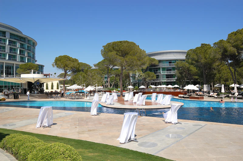 Download Swimming Pool Area At Luxury Turkish Hotel Stock Image - Image: 13176713