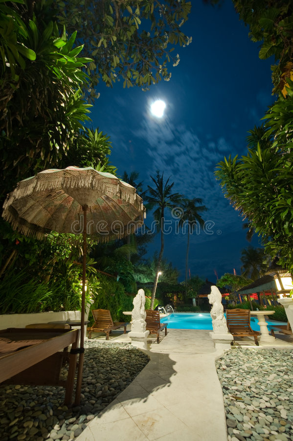 Free Swimming Pool At Night Stock Images - 5908984