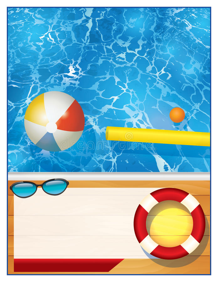 swimming pool background template stock illustration