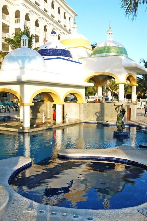 Swimming Pool BAR. A beautiful swimming pool bar royalty free stock images