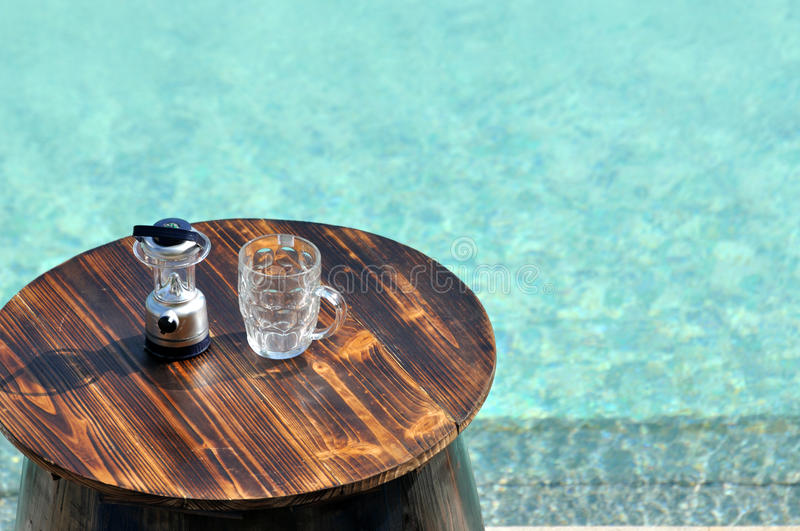Download Swimming Pool And Beer Opener And Cup Stock Photo - Image: 26614564