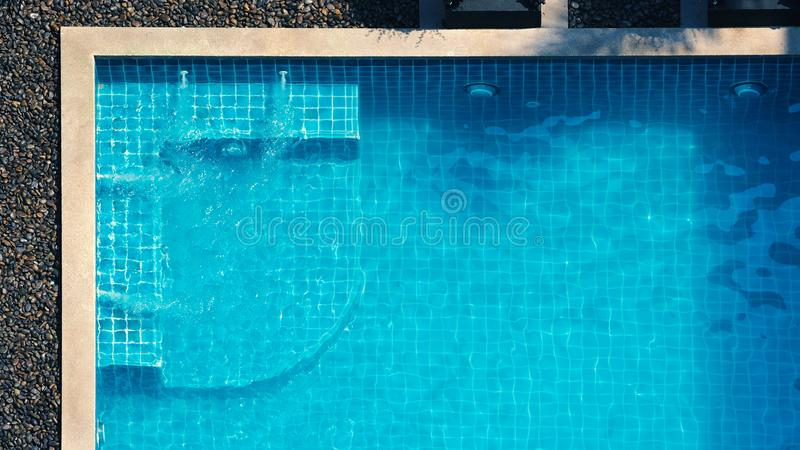 Swimming pool and bubble bath for relaxing stock photography