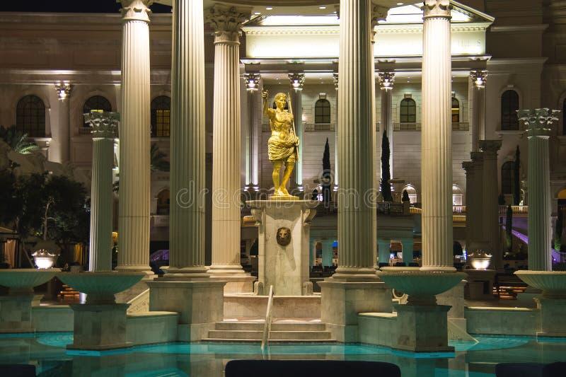 Swimming pool in Caesar's Palace in Las Vegas royalty free stock image