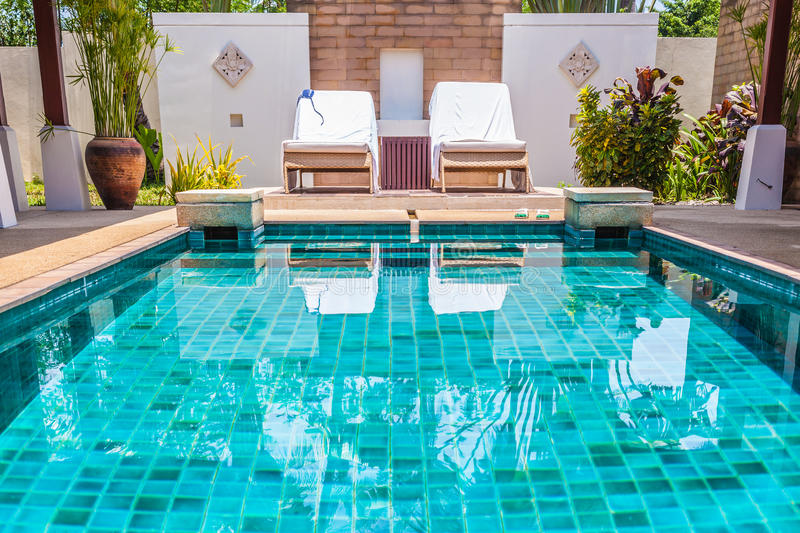 Swimming Pool With Clear Blue Water Stock Photo Image 37004778