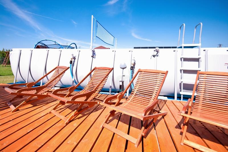 download swimming pool deck chairs stock photo image of floor 43521380 - Swimming Pool Deck Chairs