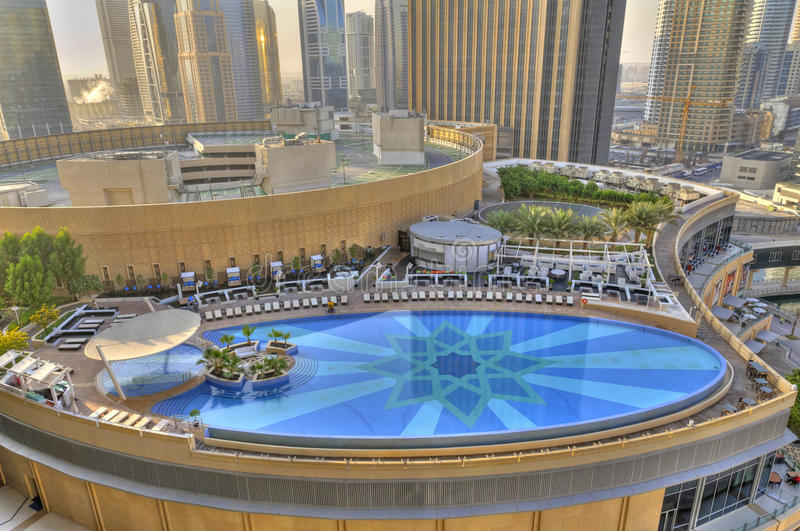 Swimming Pool In Dubai Marina Stock Photo Image Of Arab Chair 24386564