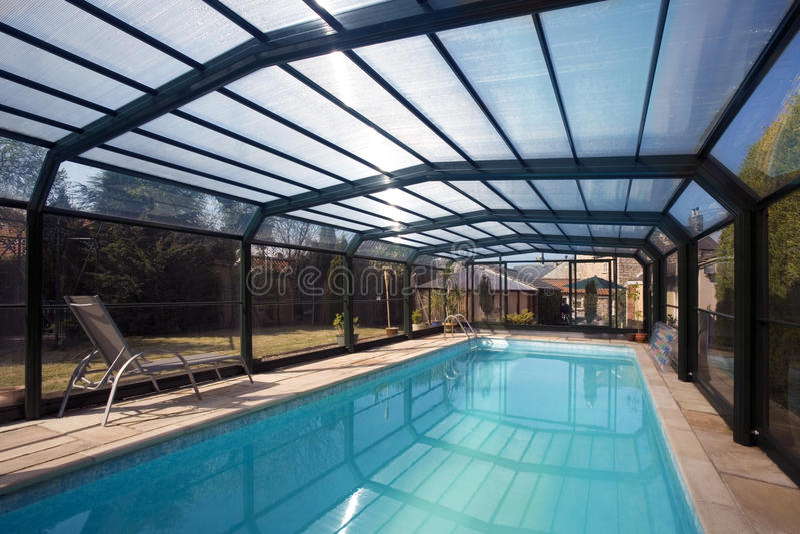 Swimming Pool Enclosure royalty free stock photo