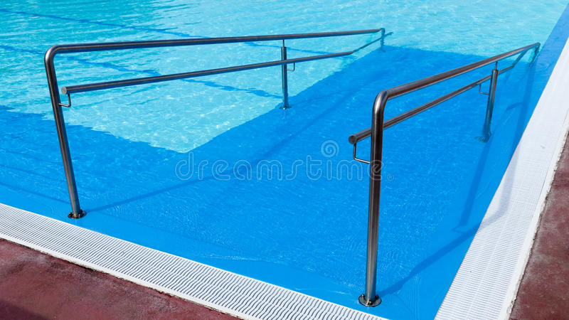 Swimming pool enterance background stock photography
