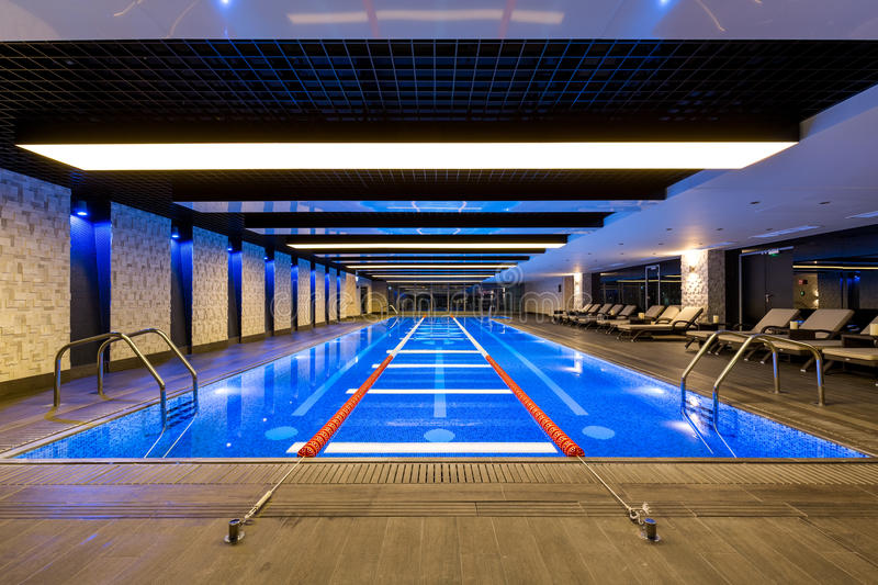 Swimming Pool In Fitness Center Stock Image Image Of Rails Sports 81642065