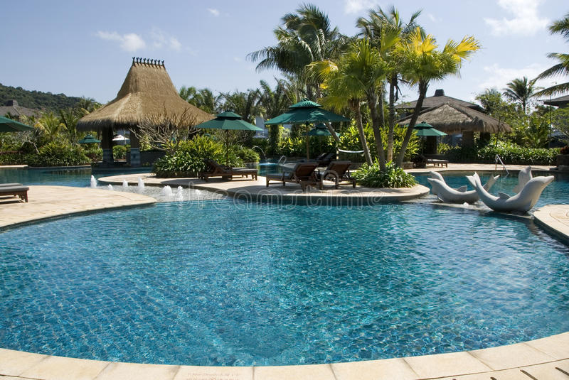 Swimming Pool The Fresh And Cool World Is In China Davao Islands Stock Photo Image Of