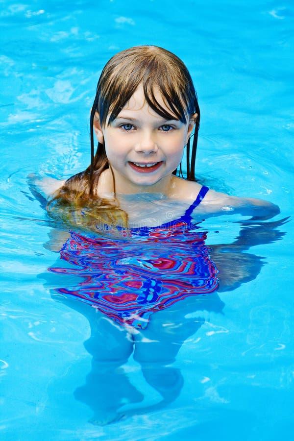 Download Swimming pool girl stock photo. Image of joyful, reflection - 5402290