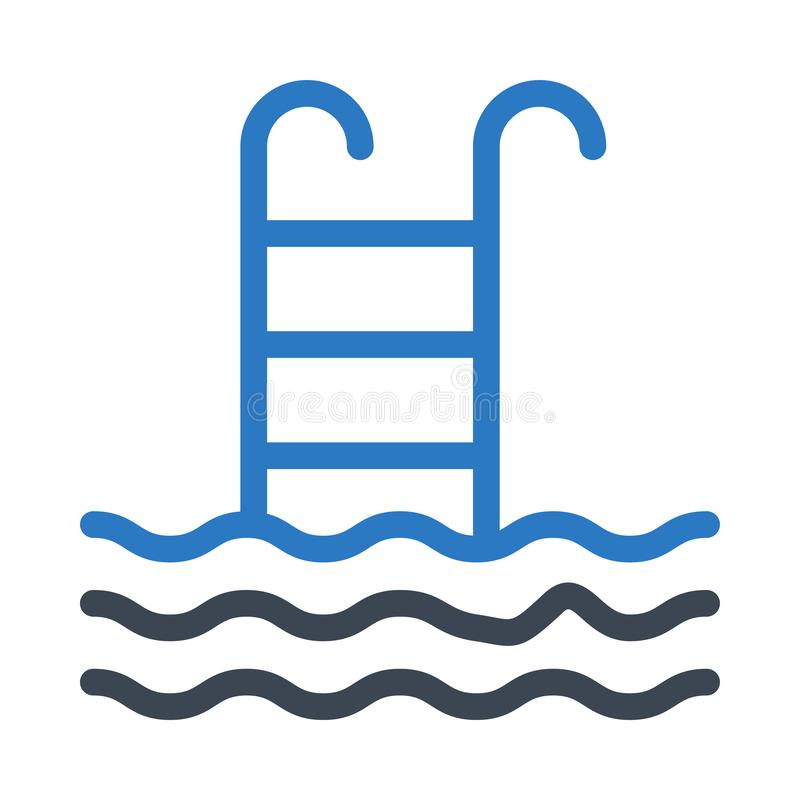 Swimming Pool Glyph Color Flat Vector Icon Stock ...