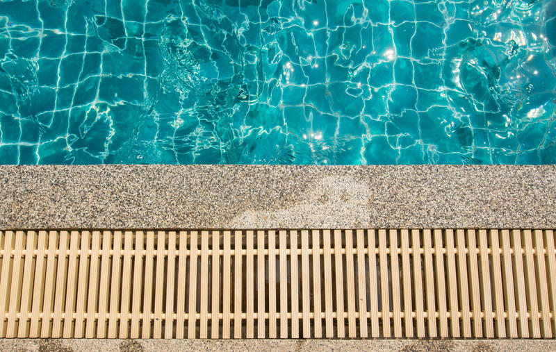 Swimming pool and gutter royalty free stock photos