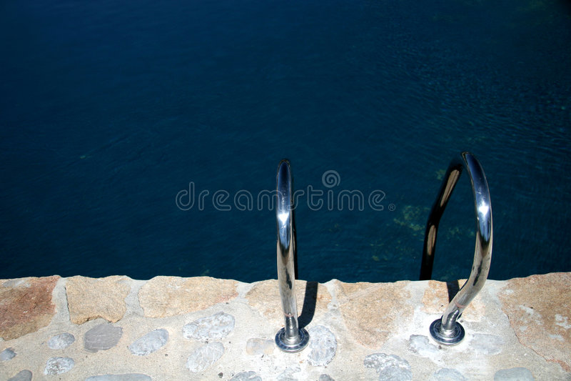 Swimming Pool Handle Bars stock images