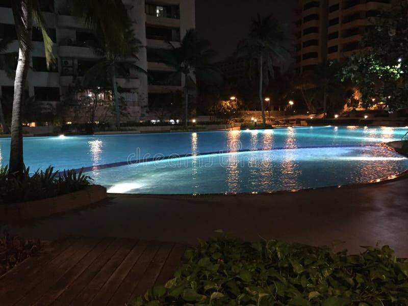 Swimming pool at a hotel royalty free stock photos