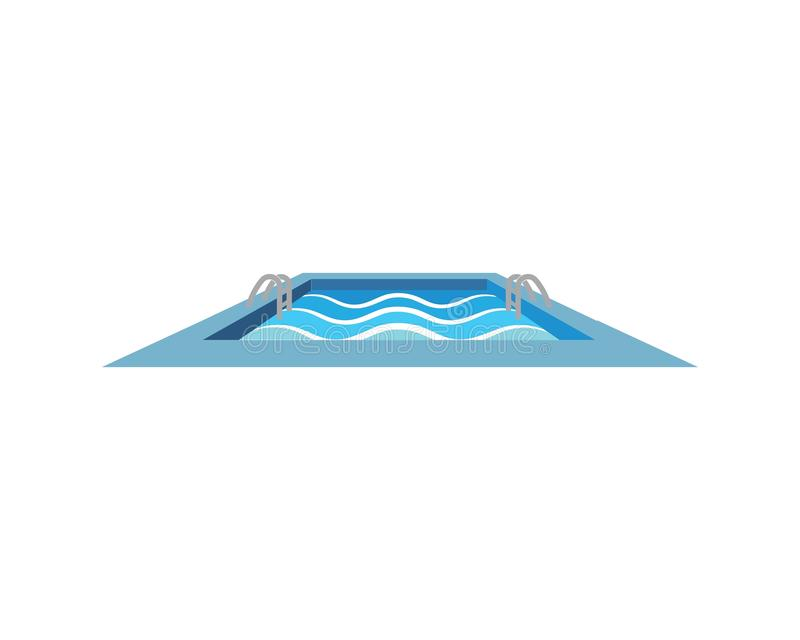 Swimming pool  icon logo vector illustration design. Template vector illustration