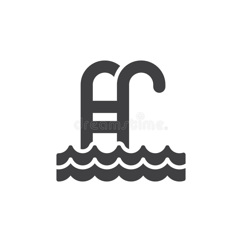 Swimming pool icon vector royalty free illustration