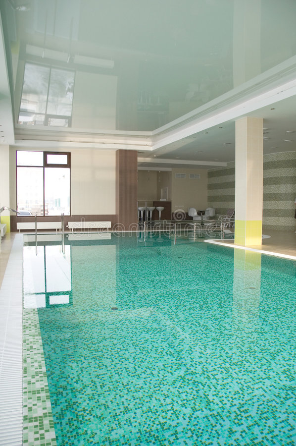Free Swimming Pool In Hotel Stock Images - 8780754