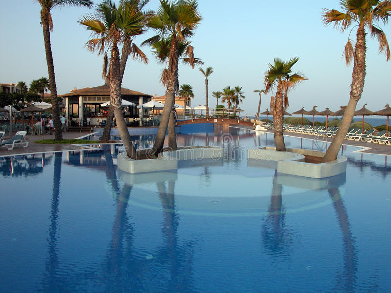 Download Swimming Pool Inside A Resort Stock Image - Image: 12981709