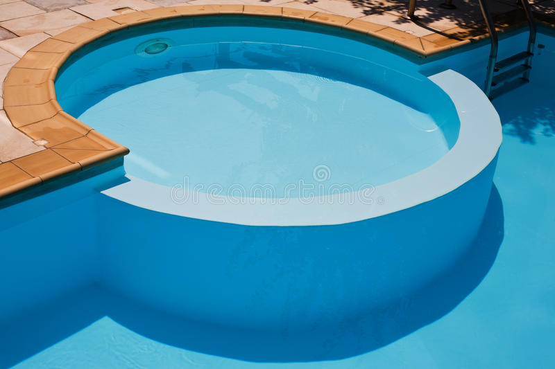 Swimming pool for kids stock images