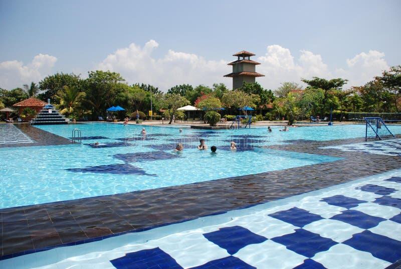 Swimming pool in hohel of Sri-Lanka stock images