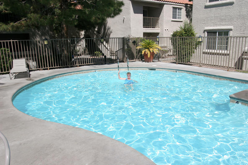 Swimming pool in Las Vegas NV. royalty free stock photo