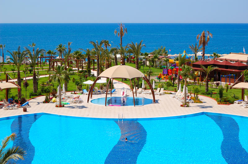 Download Swimming Pool At Luxury Hotel Stock Photo - Image: 15539082