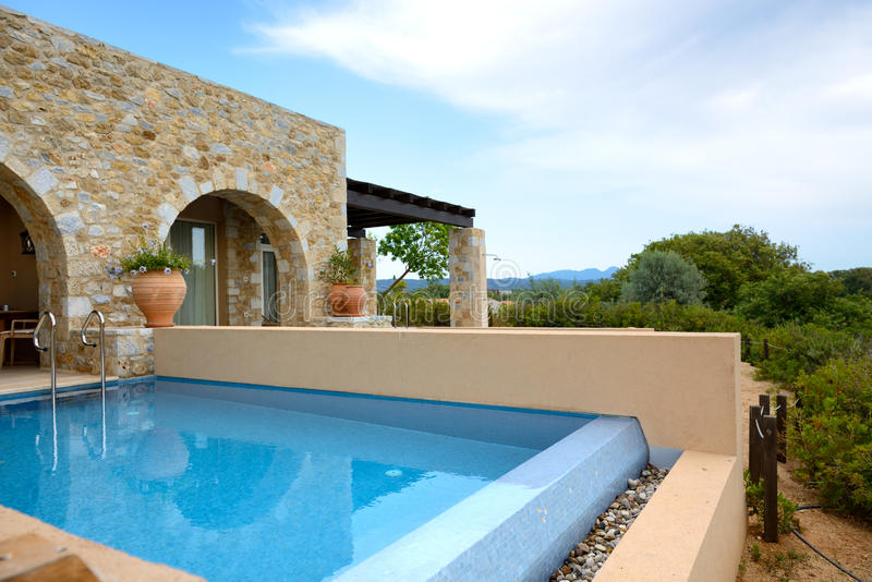 Download Swimming Pool By Luxury Sea View Villa Stock Image - Image: 32953763