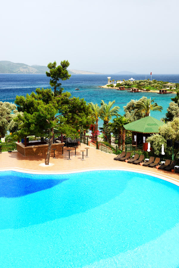 Download Swimming Pool Near Beach At Turkish Resort Stock Photo - Image: 36585710